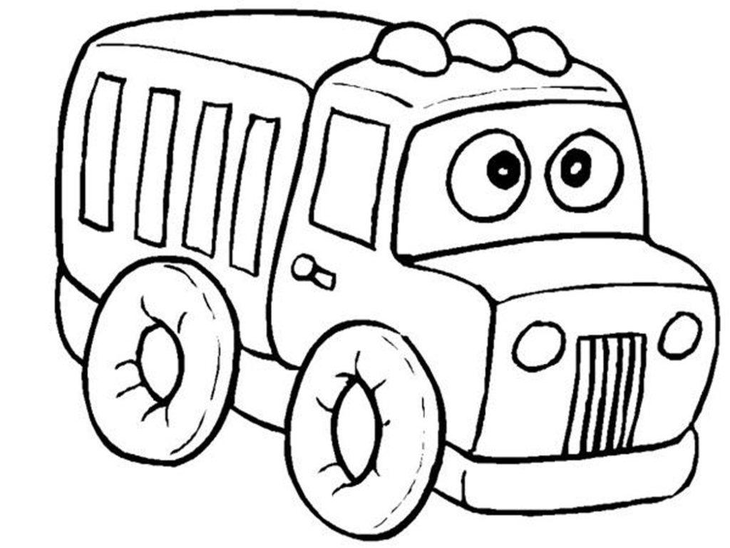 Tranh tô màu xe ô tô cho bé 5 tuổi