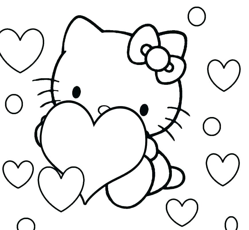 Bé tập tô màu mèo Kitty (2)