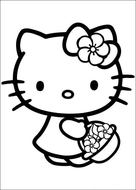 Hello Kitty tô màu