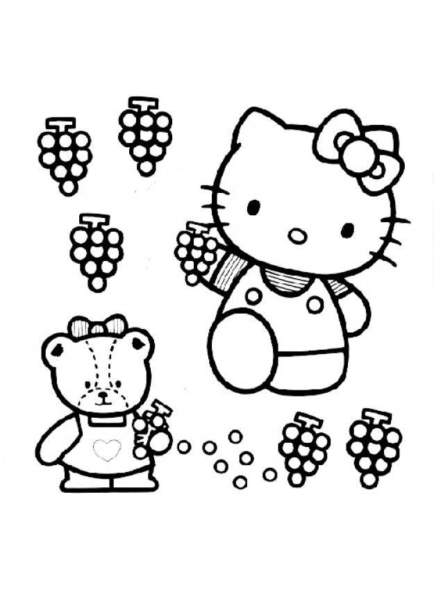 Hình ảnh Hello Kitty cho bé tập tô