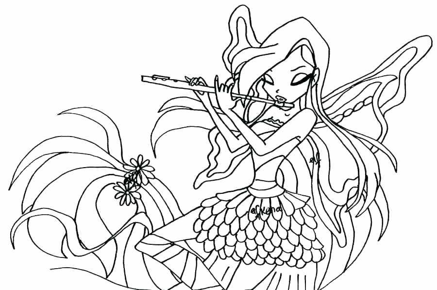 Hình cho bé tập tô màu công chúa Winx