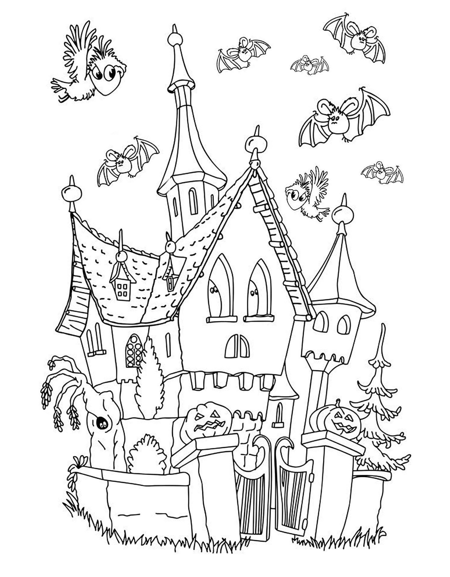 Hình ngôi nhà cho bé tập tô màu