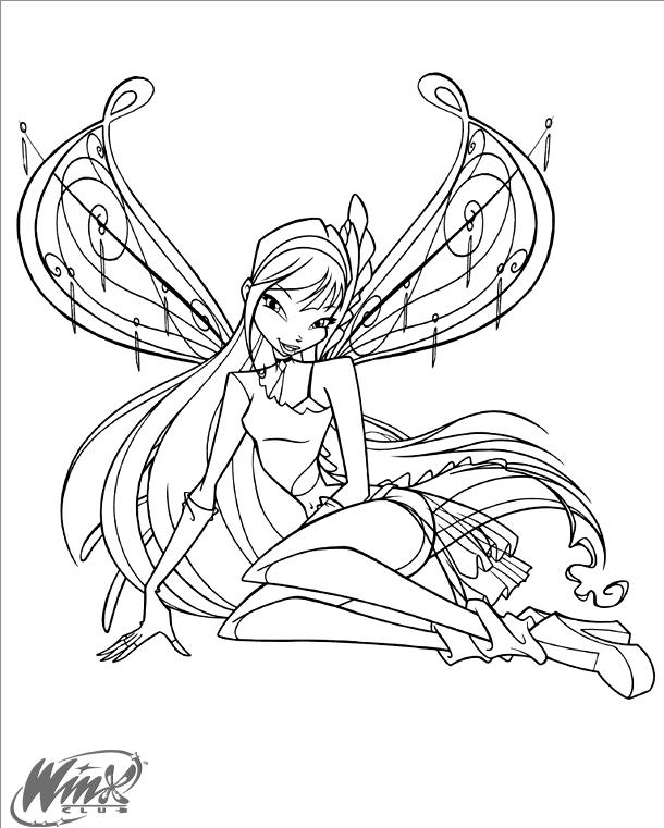 Hình tập tô công chúa phép thuật cho bé