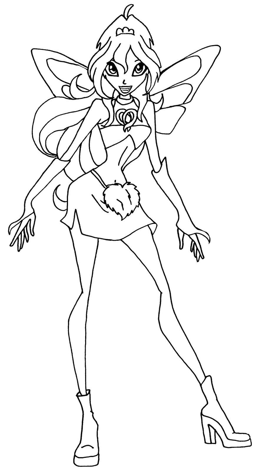 Hình tập tô công chúa phép thuật Winx cho bé