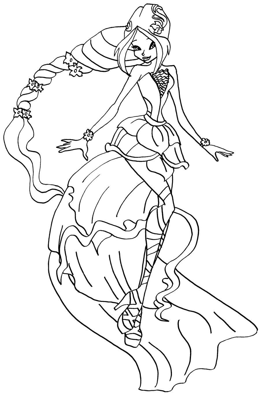 Hình tập tô công chúa phép thuật