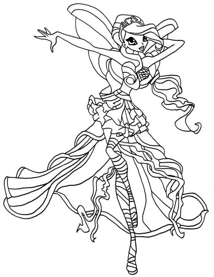 Hình tập tô công chúa Winx