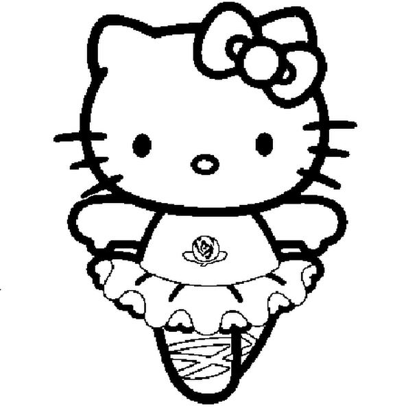 Hình tập tô Kitty đáng yêu