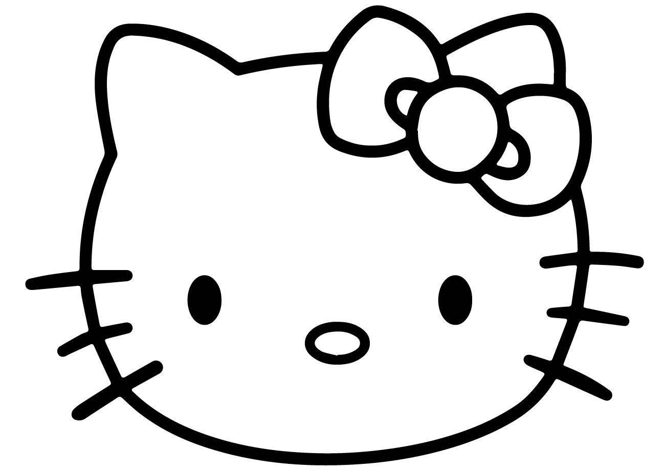 Hình tập tô mặt mèo Kitty
