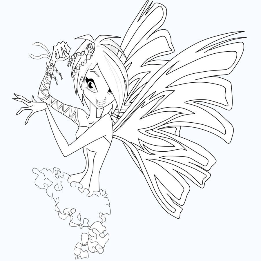 Hình tập tô màu công chúa phép thuật đẹp