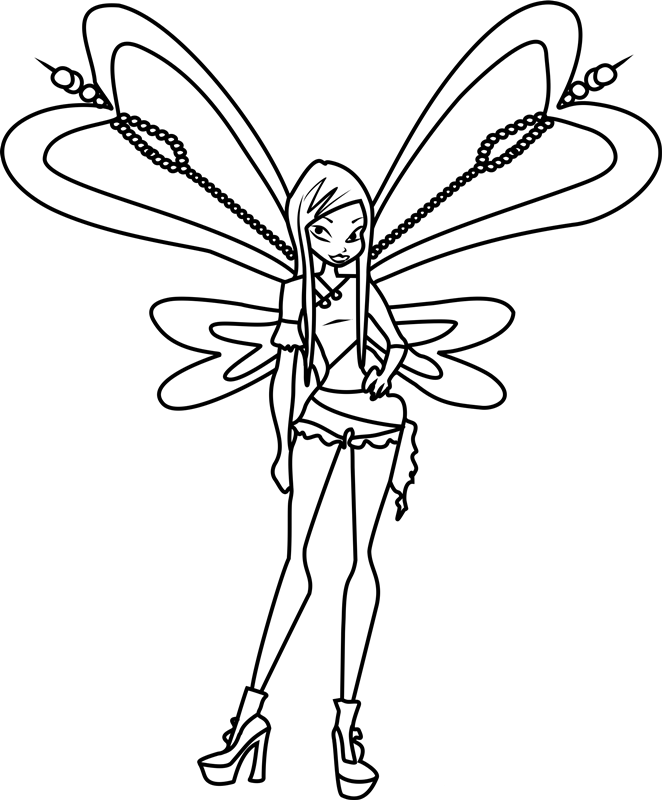 Hình tập tô màu công chúa phép thuật Winx cho bé