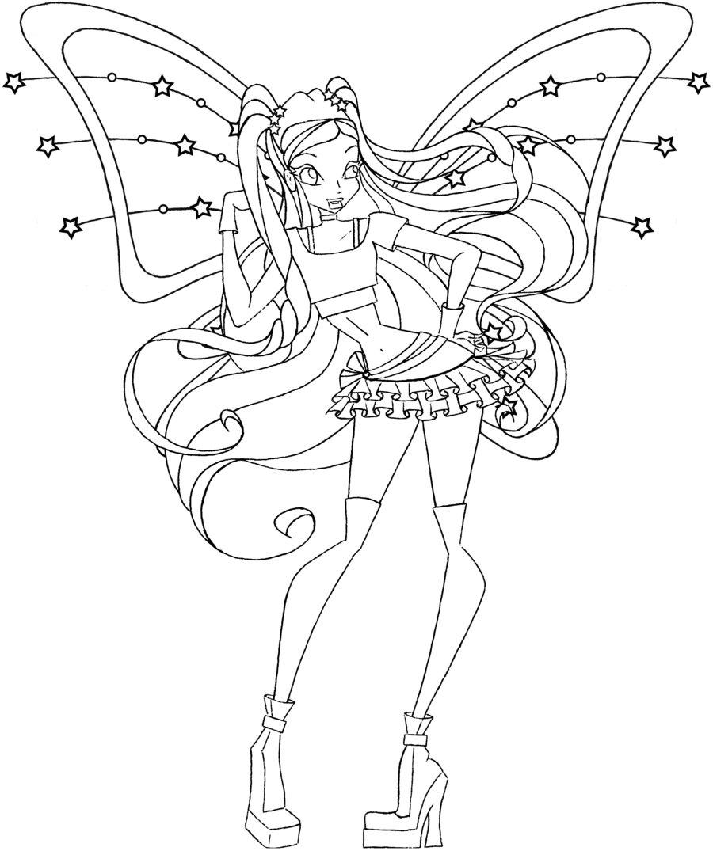 Hình tập tô màu công chúa phép thuật