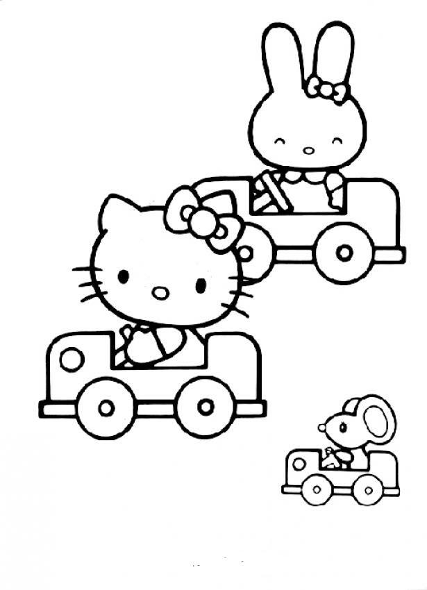Hình tập tô màu Hello Kitty đẹp