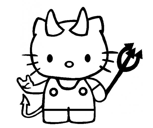 Hình tập tô màu mèo Kitty đẹp