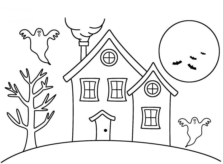 Hình tập tô ngôi nhà cho bé