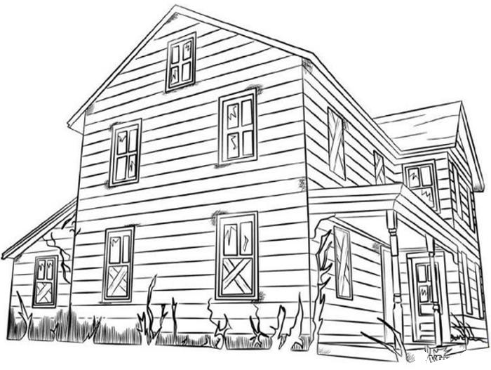Hình tập tô ngôi nhà
