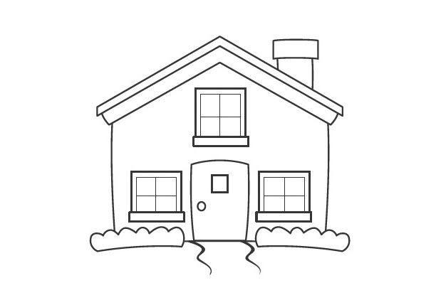 Hình tô màu chủ đề ngôi nhà