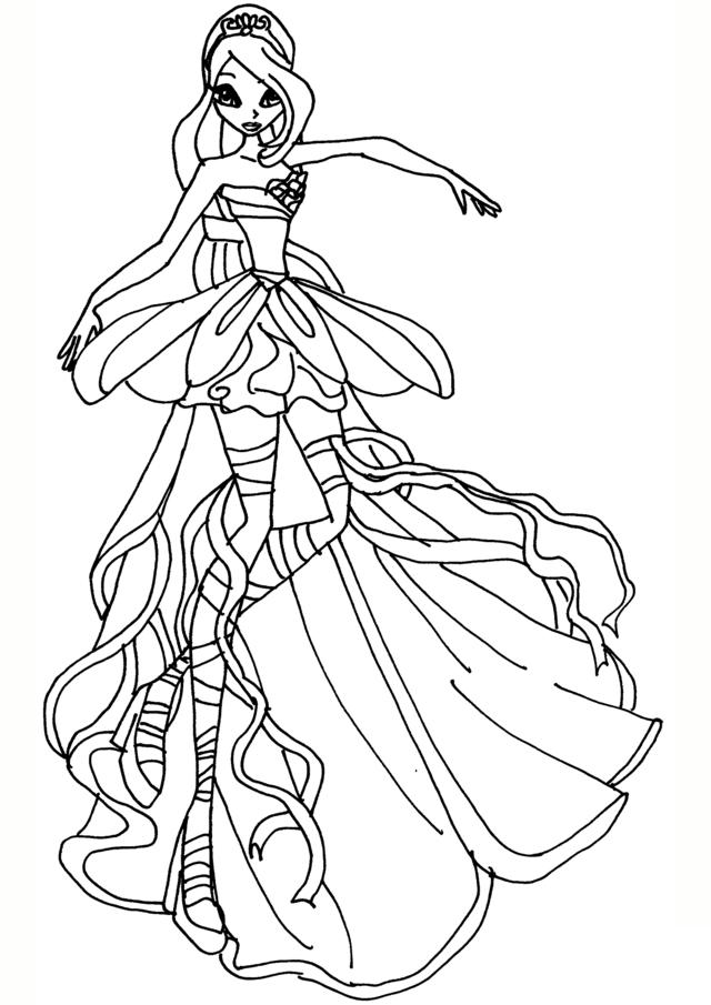 Hình tô màu công chúa phép thuật Winx cho bé