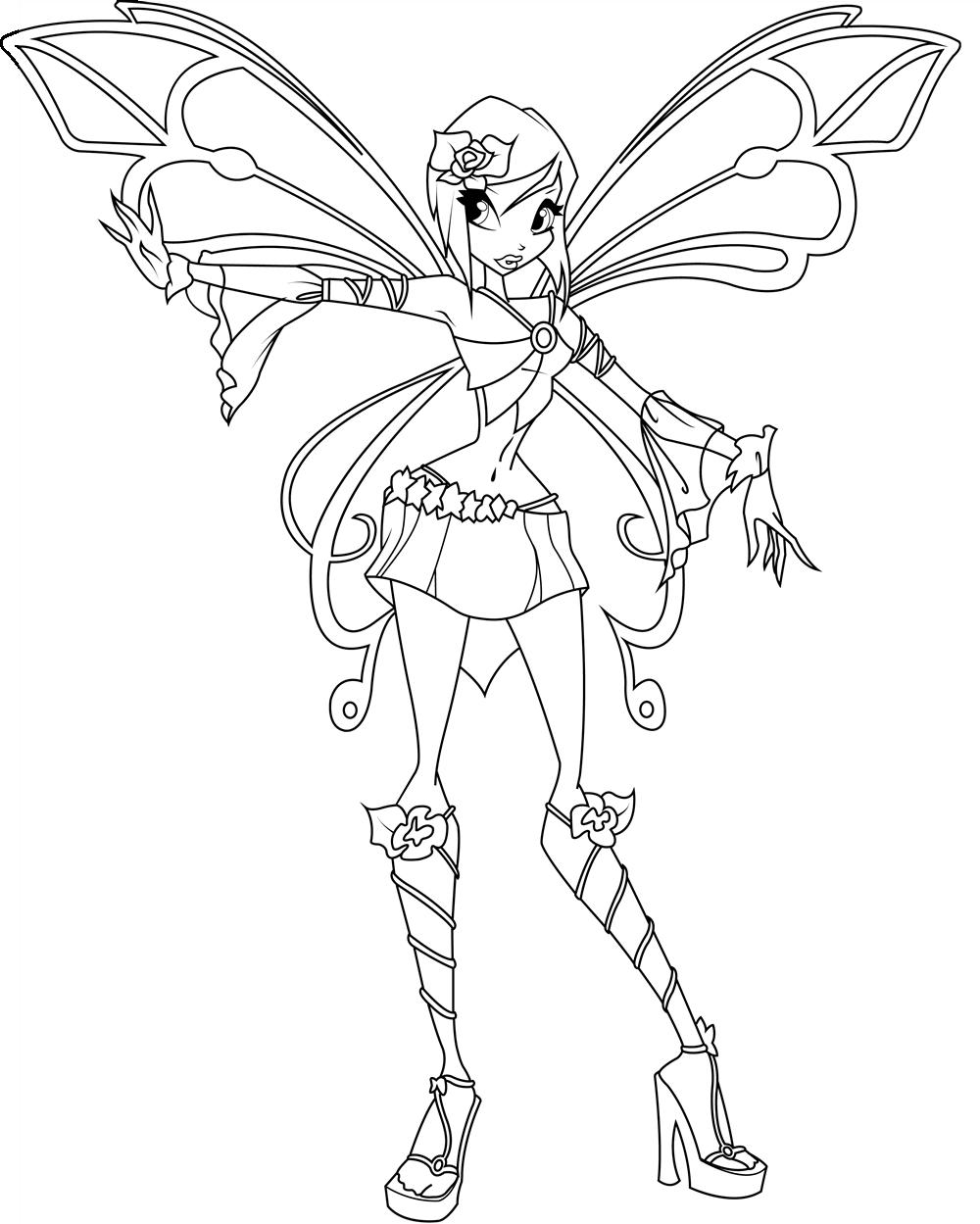 Hình tô màu công chúa phép thuật