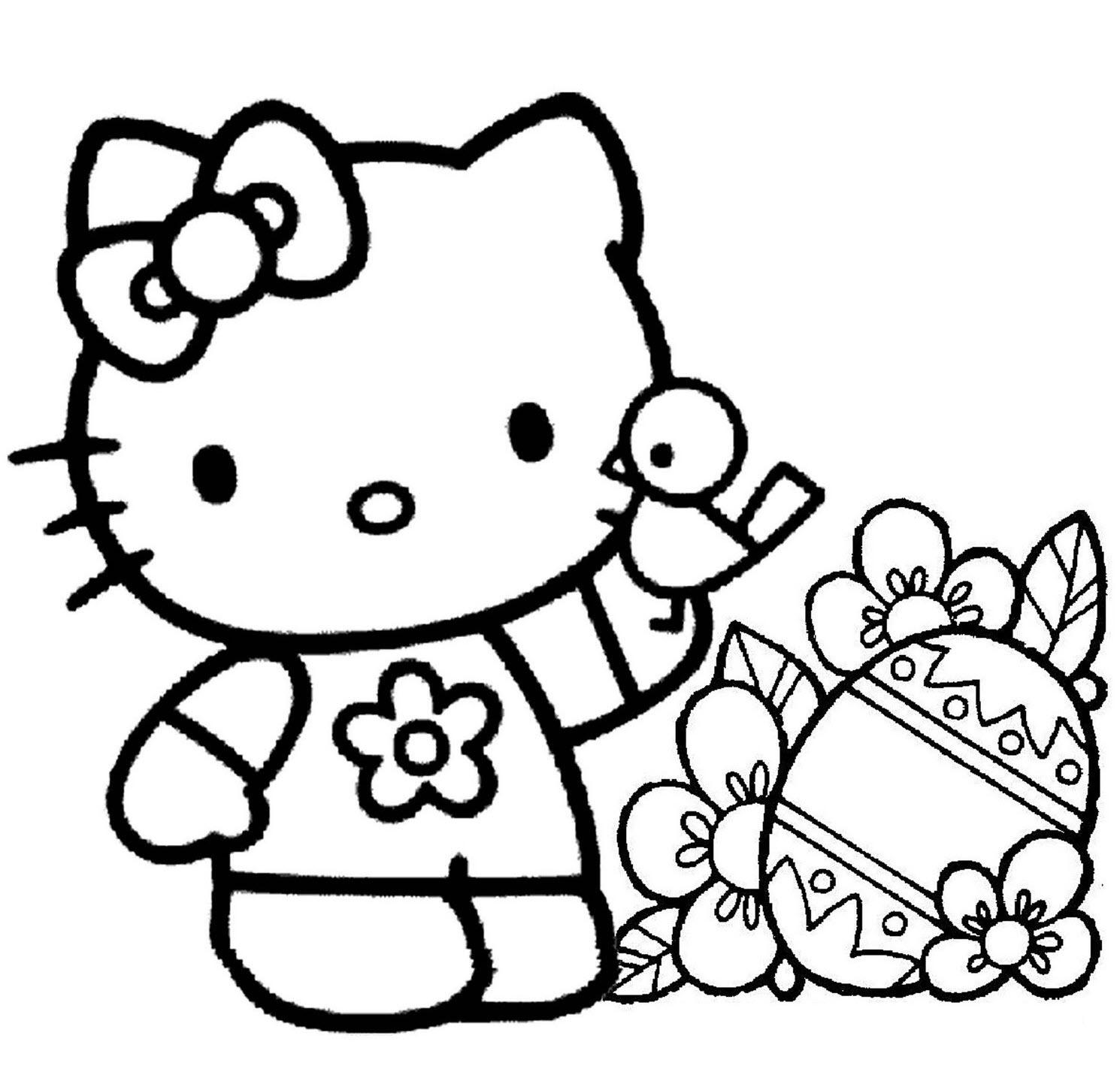 Hình tô màu hello kitty đáng yêu