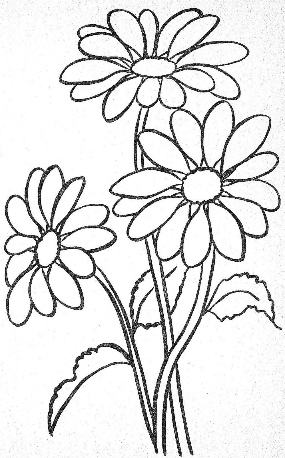 Hình tô màu hoa cho bé