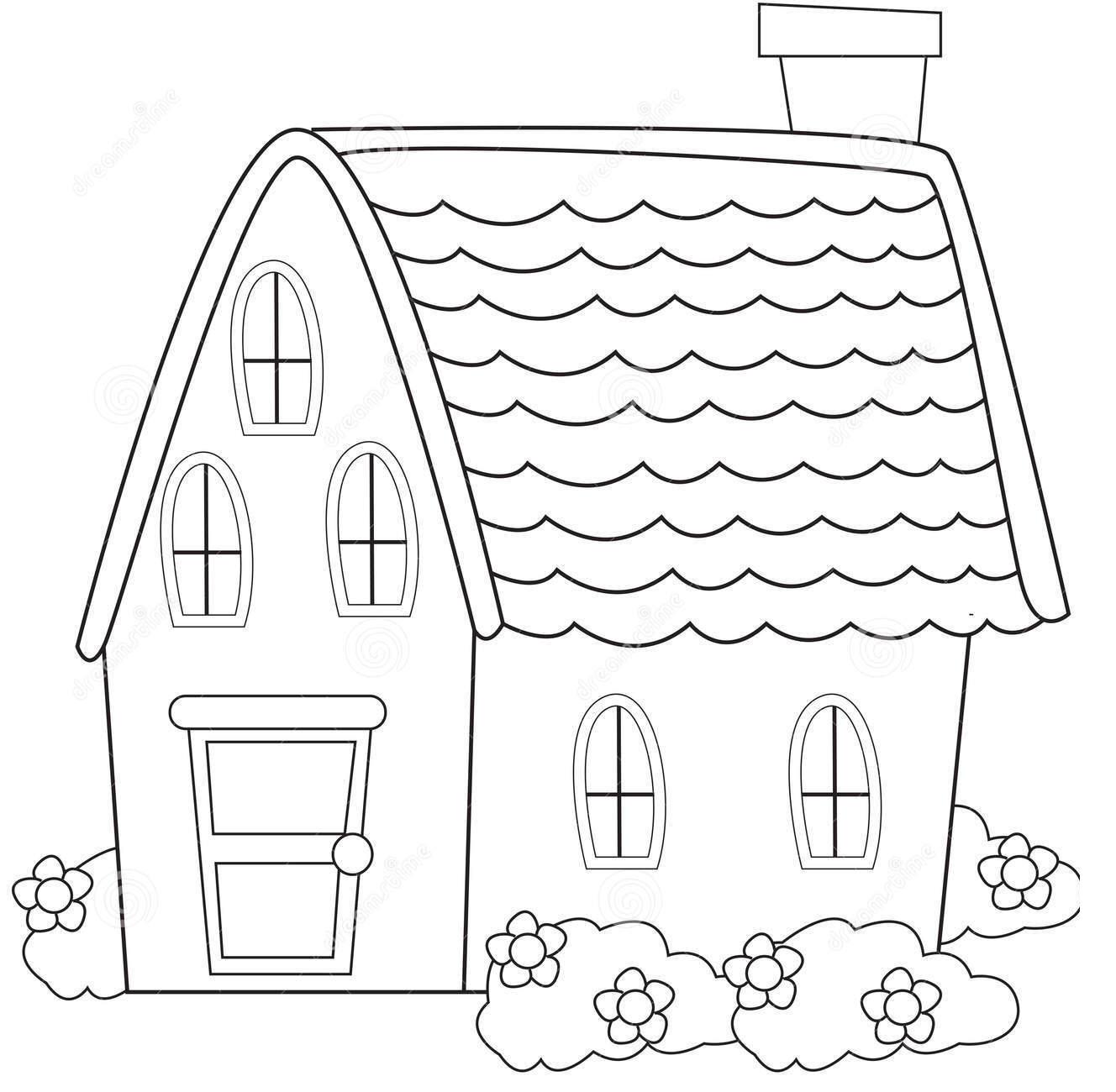Hình tô màu ngôi nhà đẹp