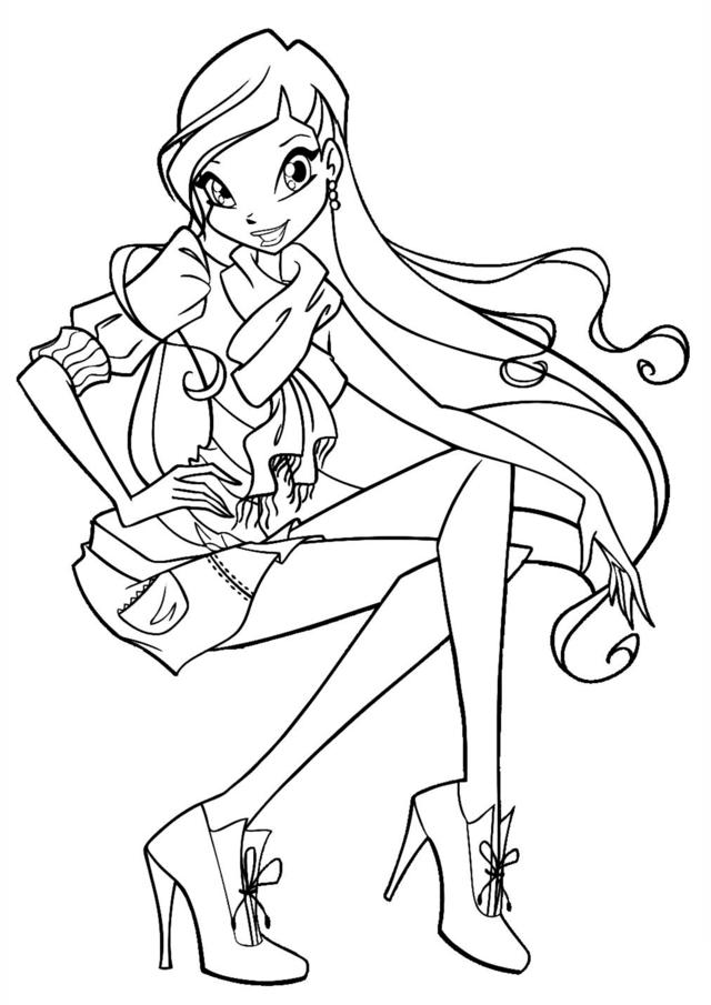 Hình tô màu Winx công chúa phép thuật