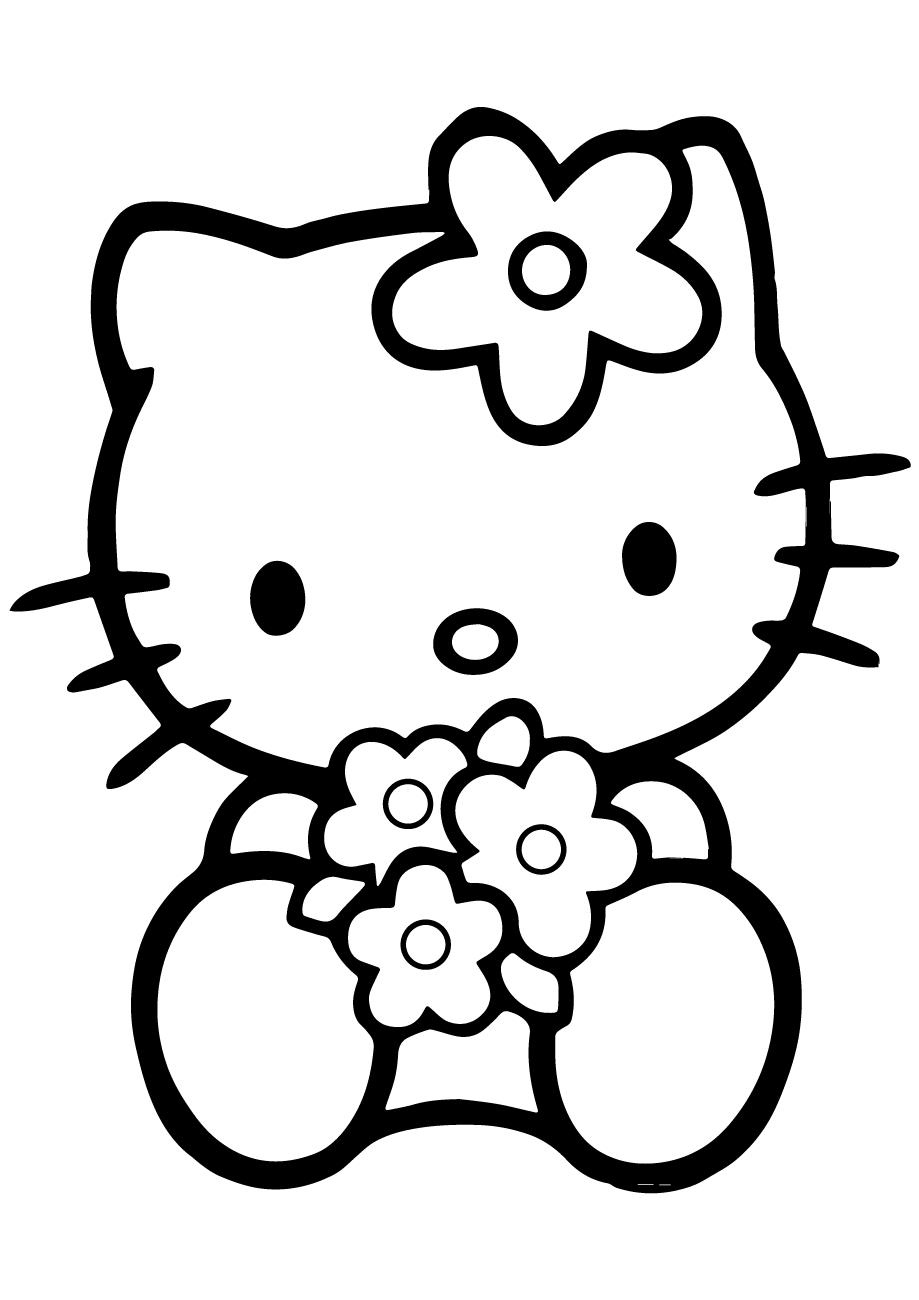 Mèo Kitty dễ thương cho bé tập tô