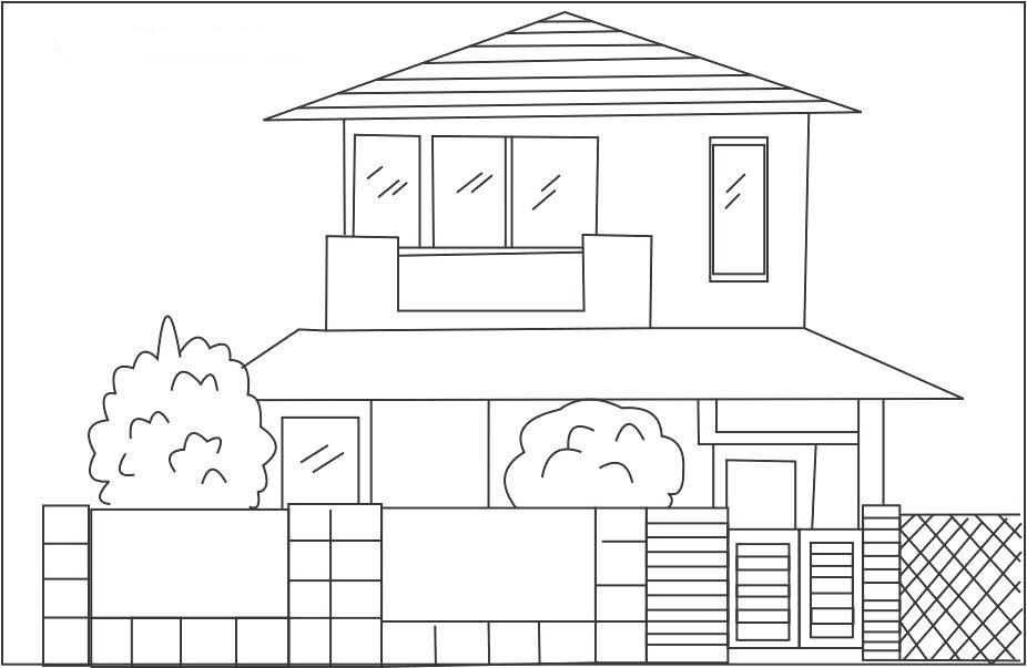 Ngôi nhà cho bé tập tô màu (2)