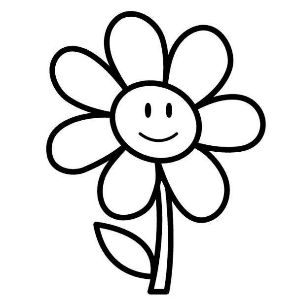 Tập tô màu bông hoa cho bé