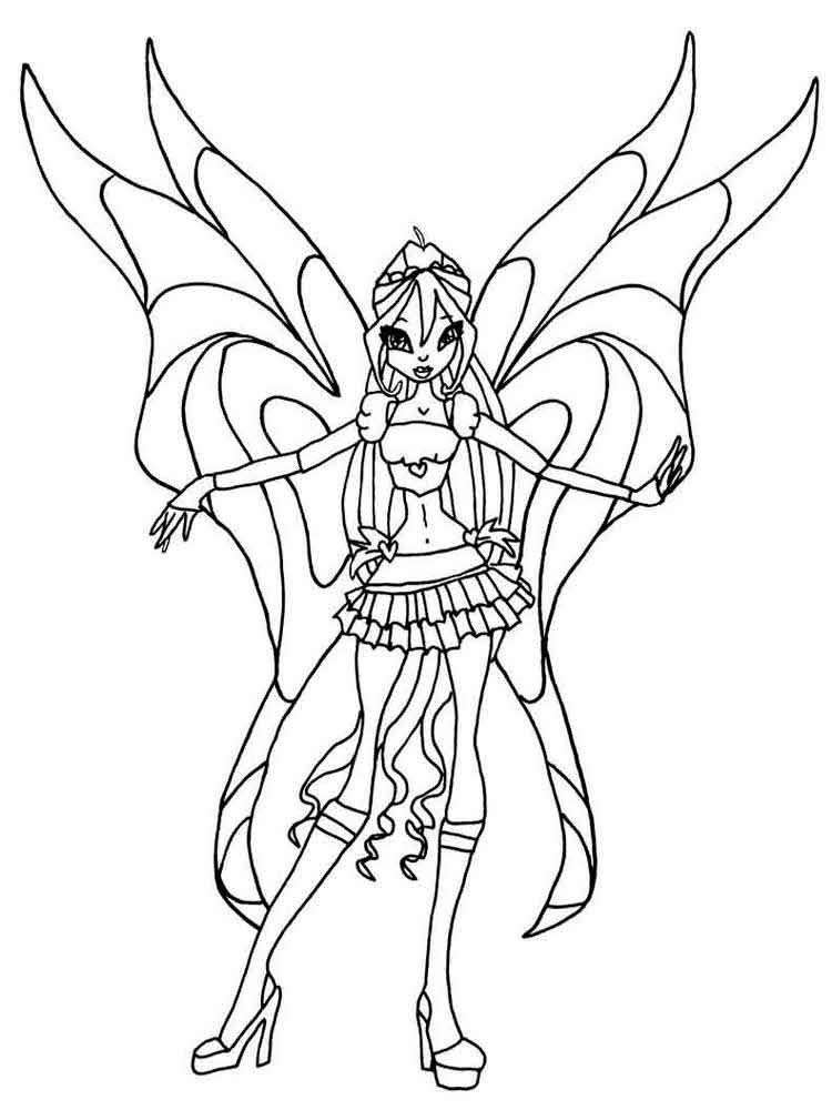Tập tô màu công chúa Winx