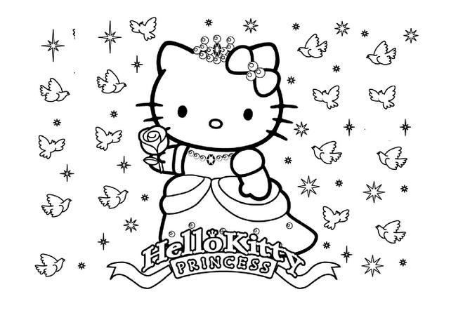 Tập tô màu hello kitty