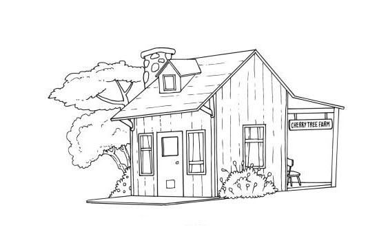 Tập tô màu hình ngôi nhà
