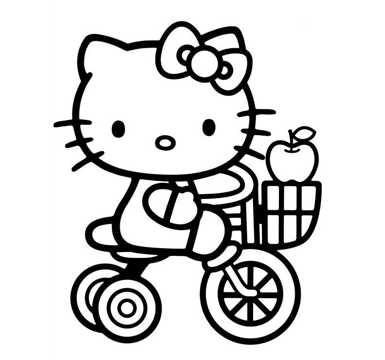 Tập tô màu mèo Kitty đáng yêu nhất