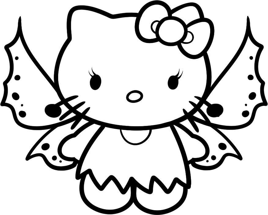 Tập tô màu mèo Kitty đáng yêu