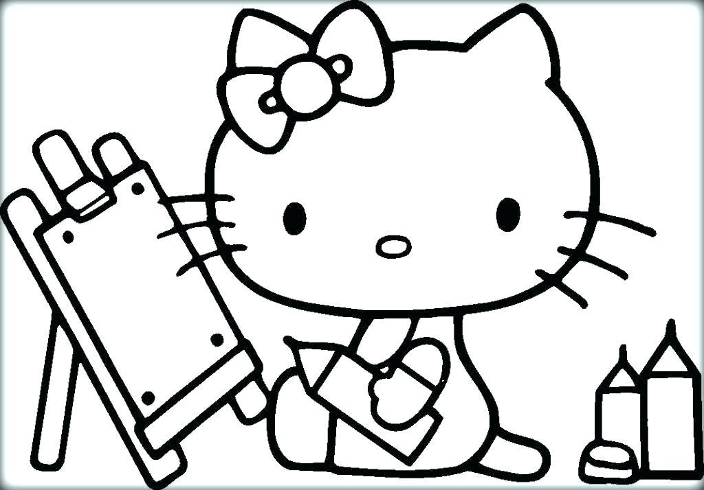 Tập tô màu mèo Kitty