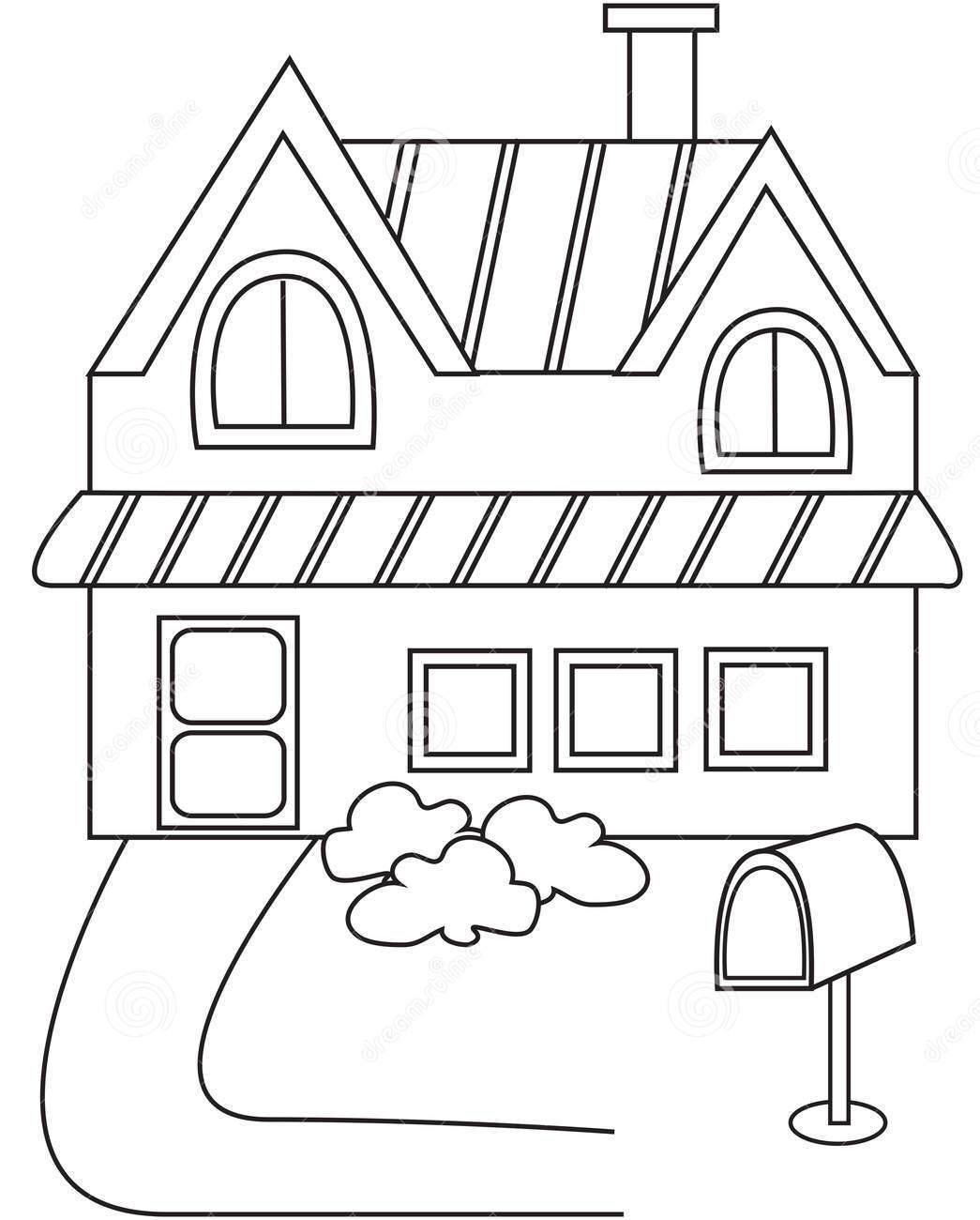 Tập tô màu ngôi nhà cho bé