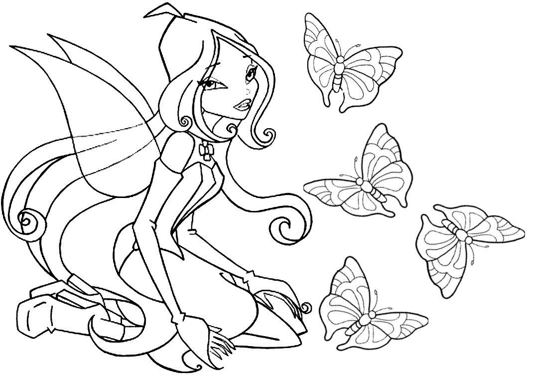 Tô màu công chúa phép thuật đẹp