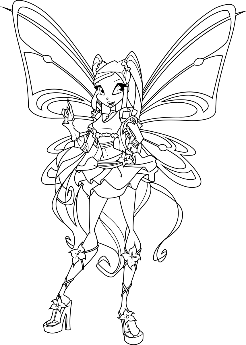 Tô màu công chúa phép thuật Winx đẹp
