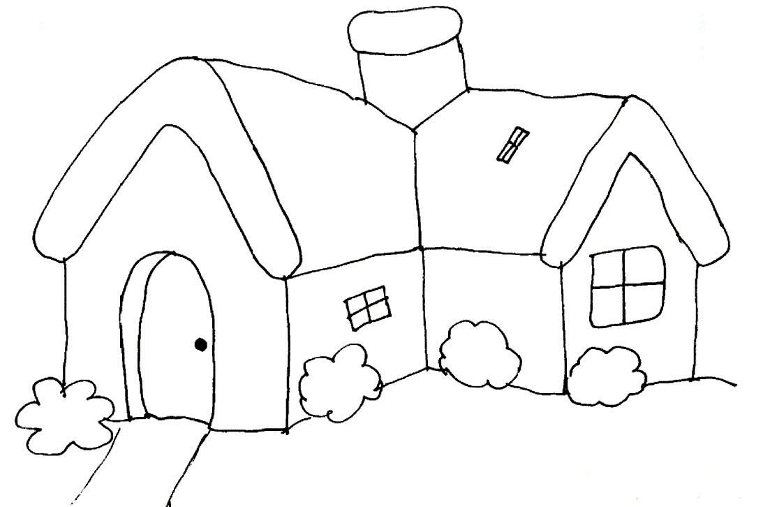 Tô màu ngôi nhà cho bé