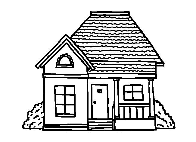 Tô màu ngôi nhà đẹp cho bé