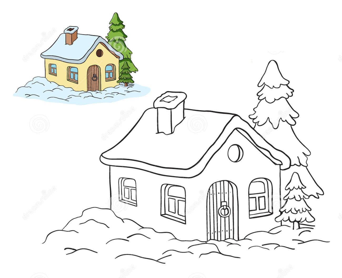 Tô màu tranh ngôi nhà đẹp