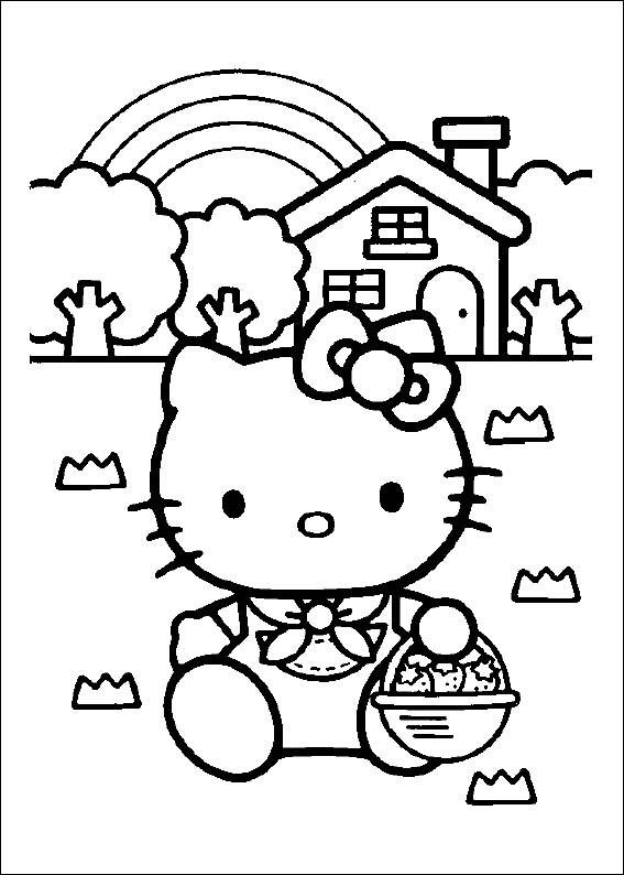 Tô màu tranh vẽ hello kitty
