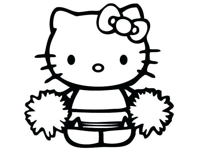 Tranh cho bé tập tô màu Hello Kitty đẹp