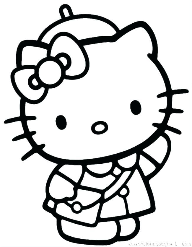 Tranh cho bé tập tô màu Hello Kitty