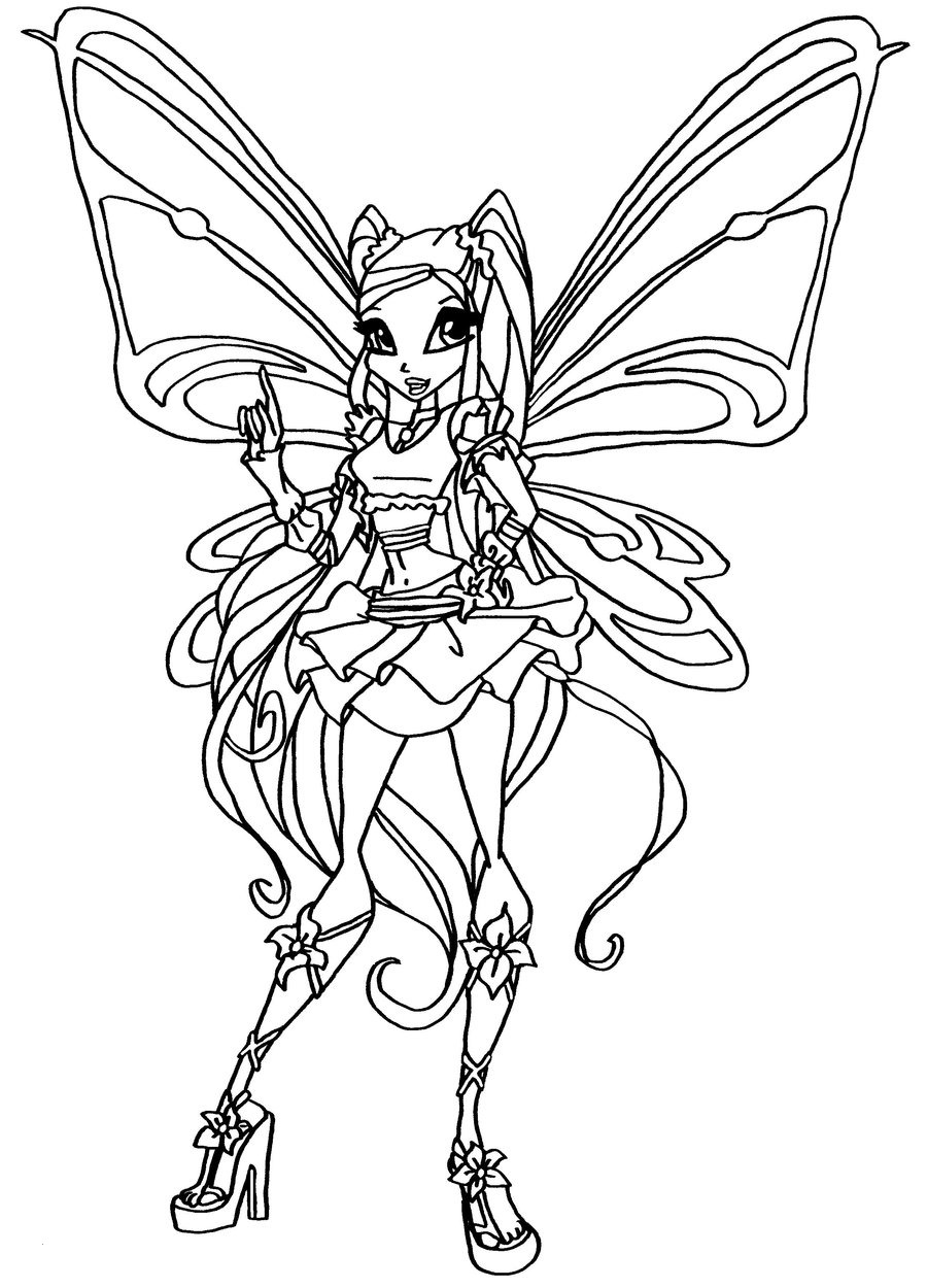 Tranh tập tô công chúa phép thuật Winx cho bé