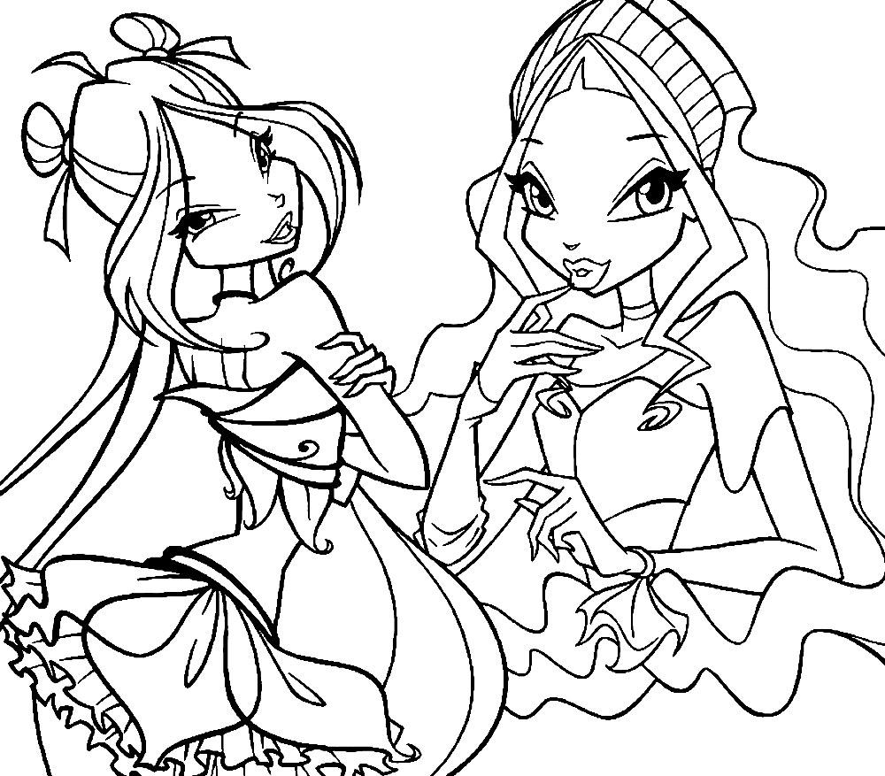 Tranh tập tô công chúa phép thuật Winx