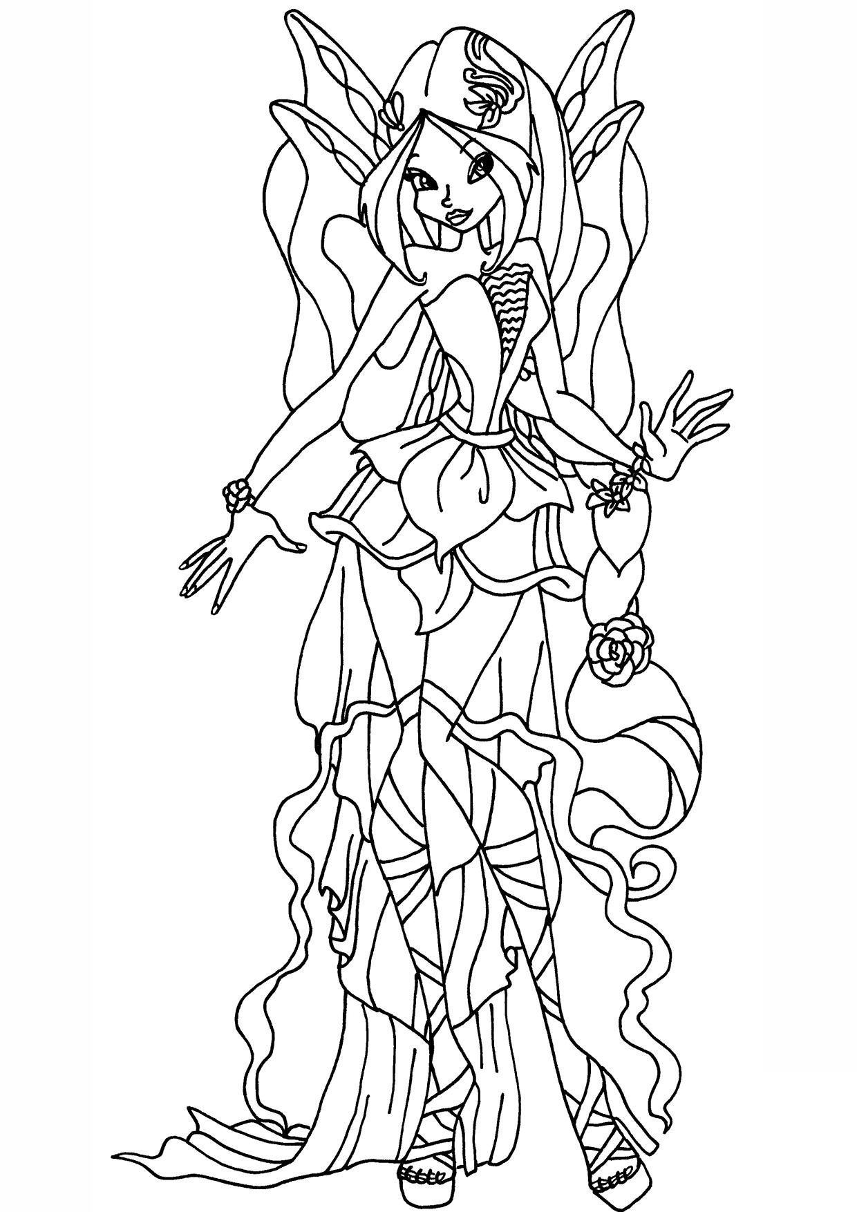 Tranh tập tô màu công chúa phép thuật Winx đẹp