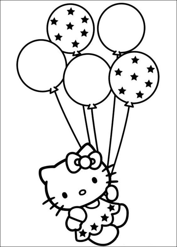 Tranh tập tô màu Hello Kitty cho bé