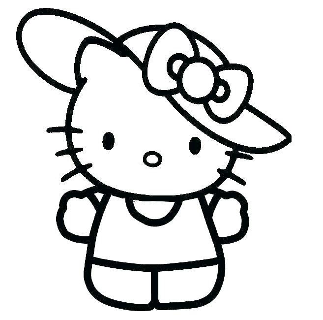 Tranh tập tô màu mèo Kitty dễ thương cho bé