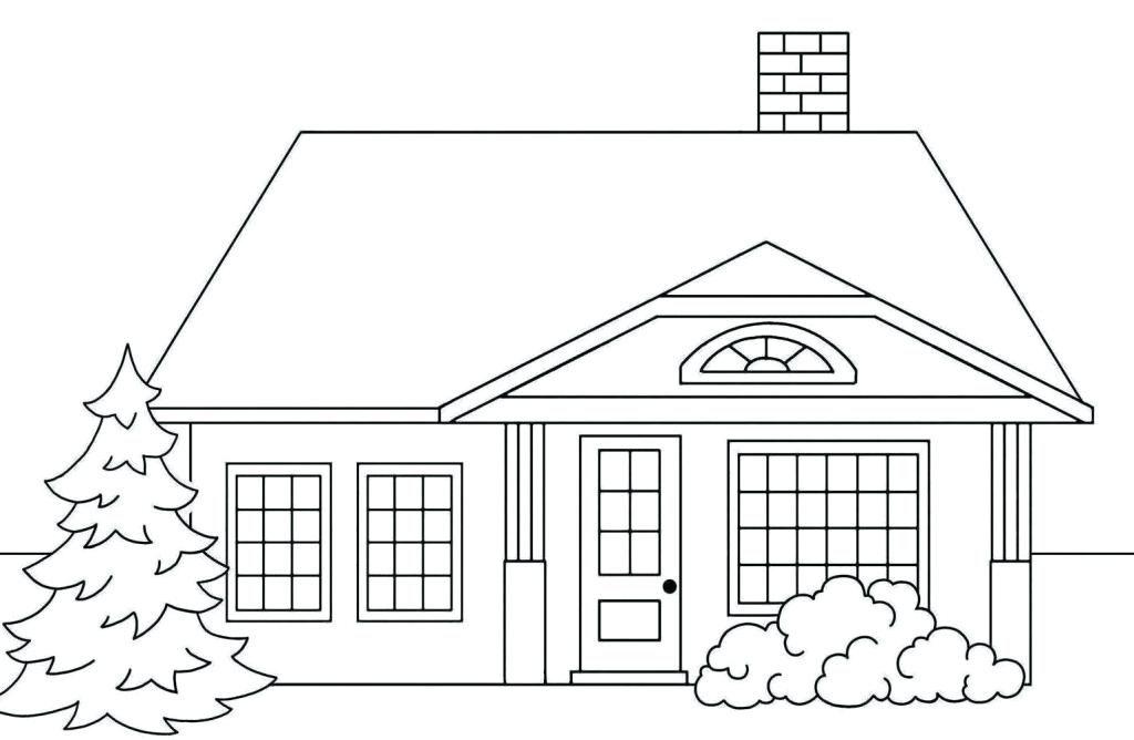 Tranh tập tô màu ngôi nhà (2)